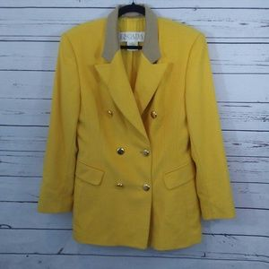 Escada yellow wool/silk blazer size 40